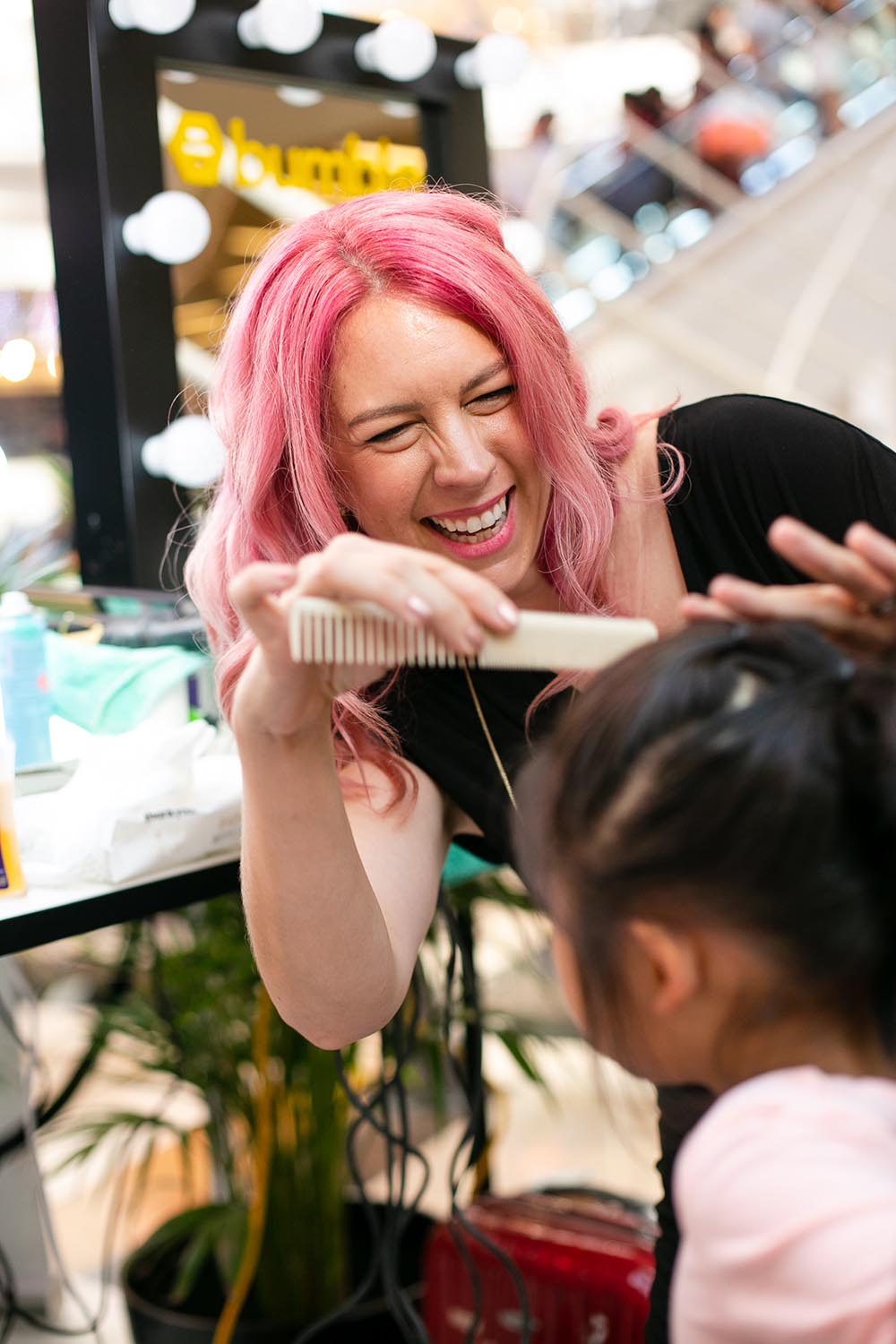 Optus x Samsung popup Melbourne - Hair Romance