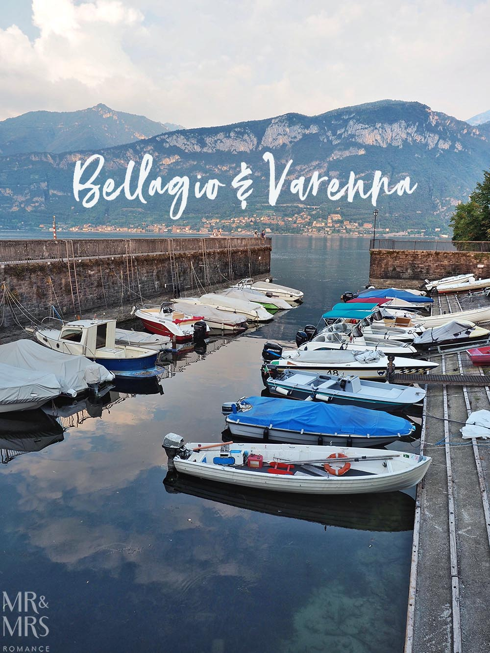 Ultimate Guide to Lake Como, Italy - long shot of little harbour in Bellagio