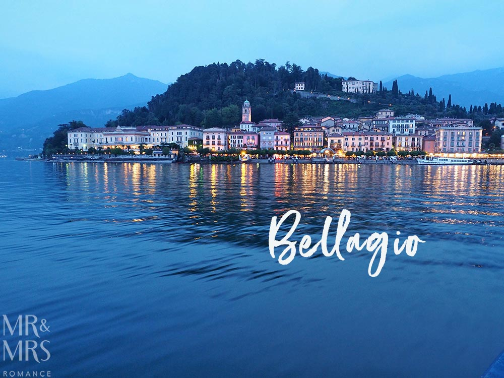 Bellagio at Golden Hour from the water - Ultimate Guide to Lake Como, Italy
