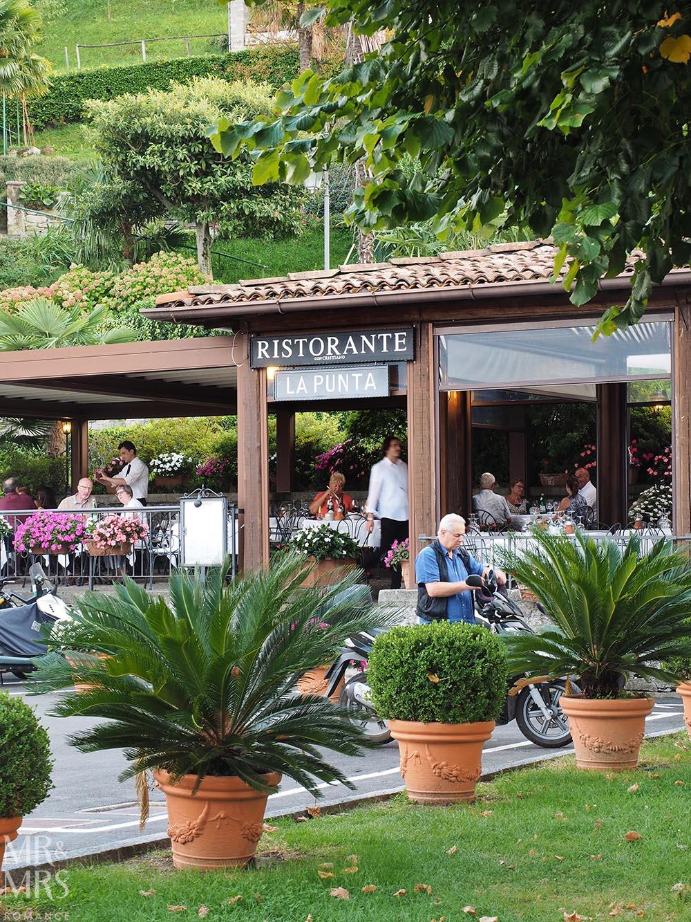 Ultimate Guide to Lake Como, Italy - Ristorante La Punta at the northern tip of Bellagio