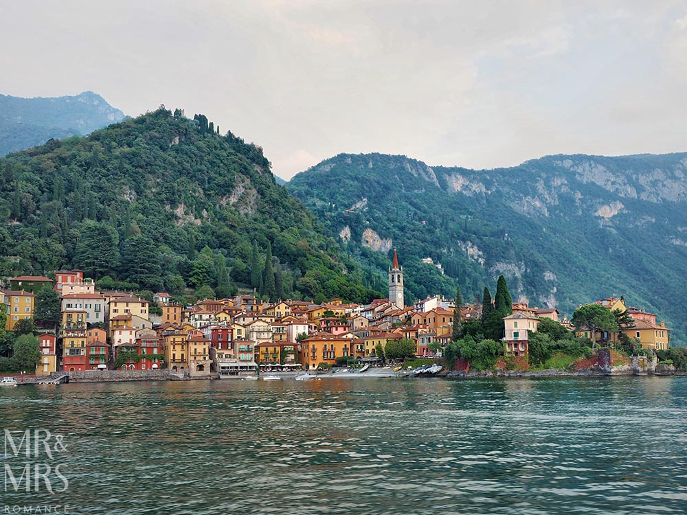 Town of Varenna, Lake Como from the water