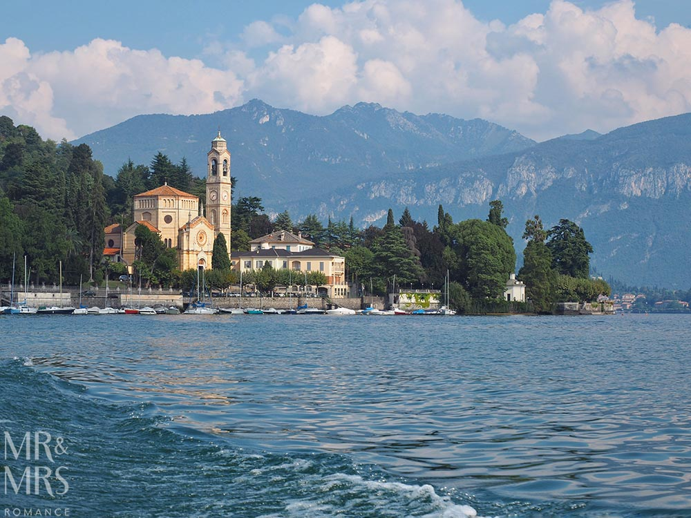 Ultimate Guide to Lake Como, Italy - Church and town of Bellagio, Lake Como from the water