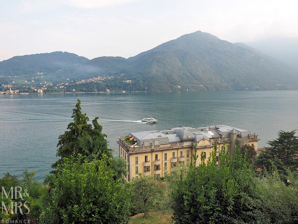 Ultimate Guide to Lake Como, Italy - Spectacular view of Lake Como down from the mountains behind the Grand Hotel Tremezzo