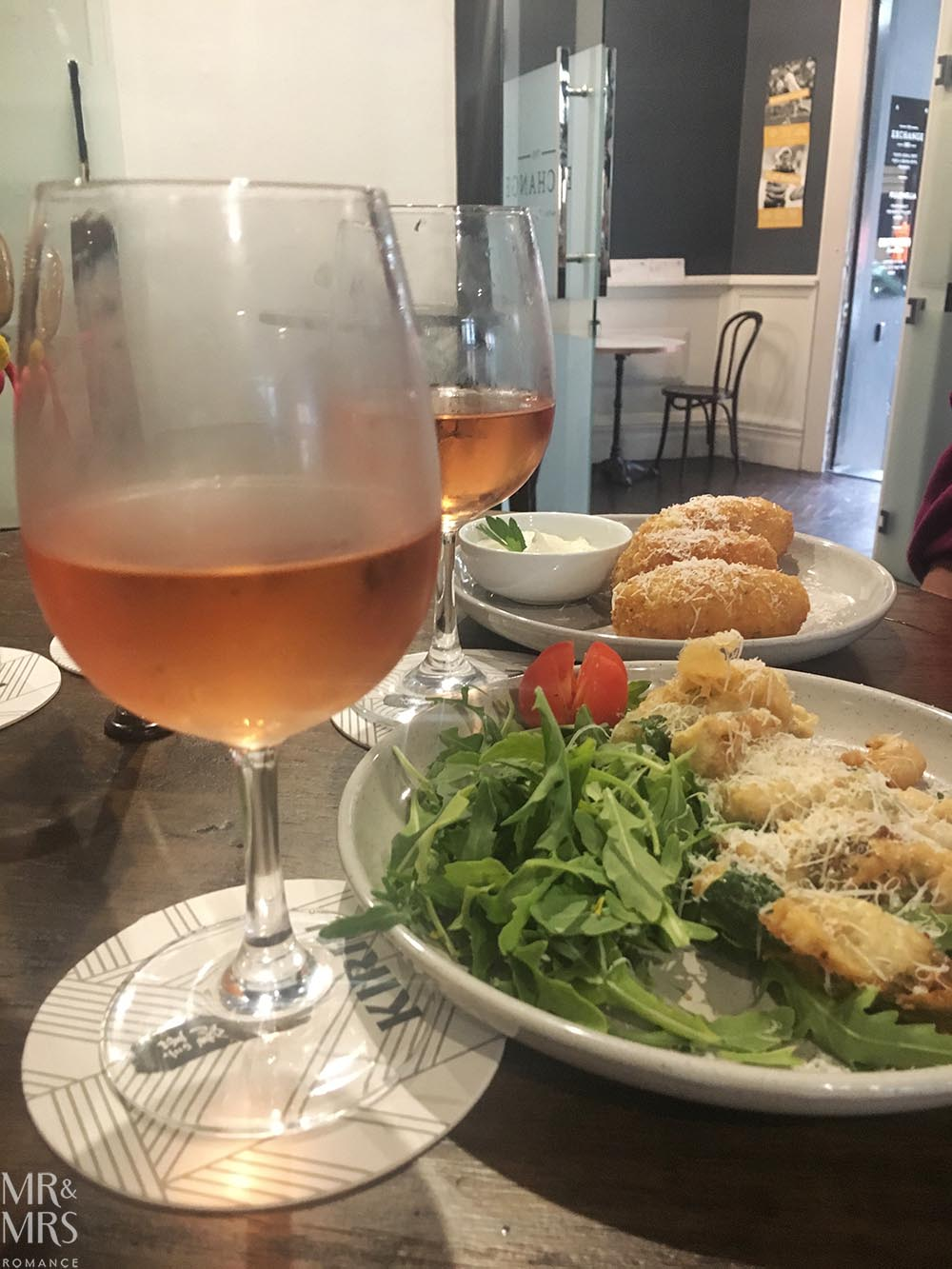 Snacks and rosé at the Exchange Hotel, Balmain