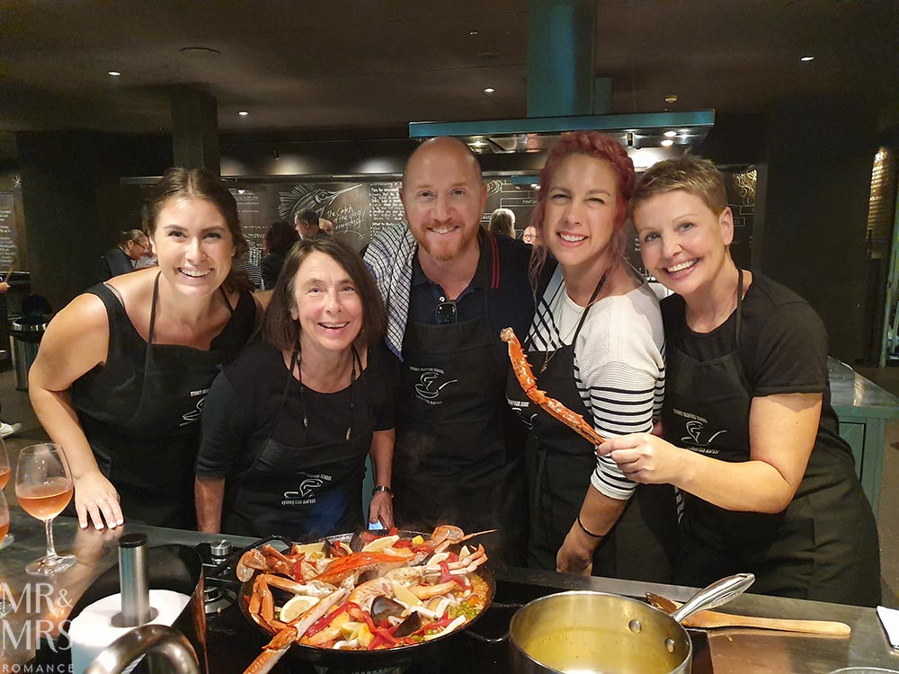 Sydney Seafood School at the Fish Market - paella lesson