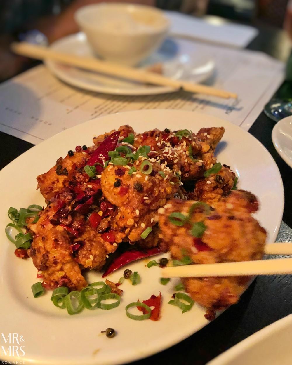 Boneless spicy chicken Queen Chow, Enmore