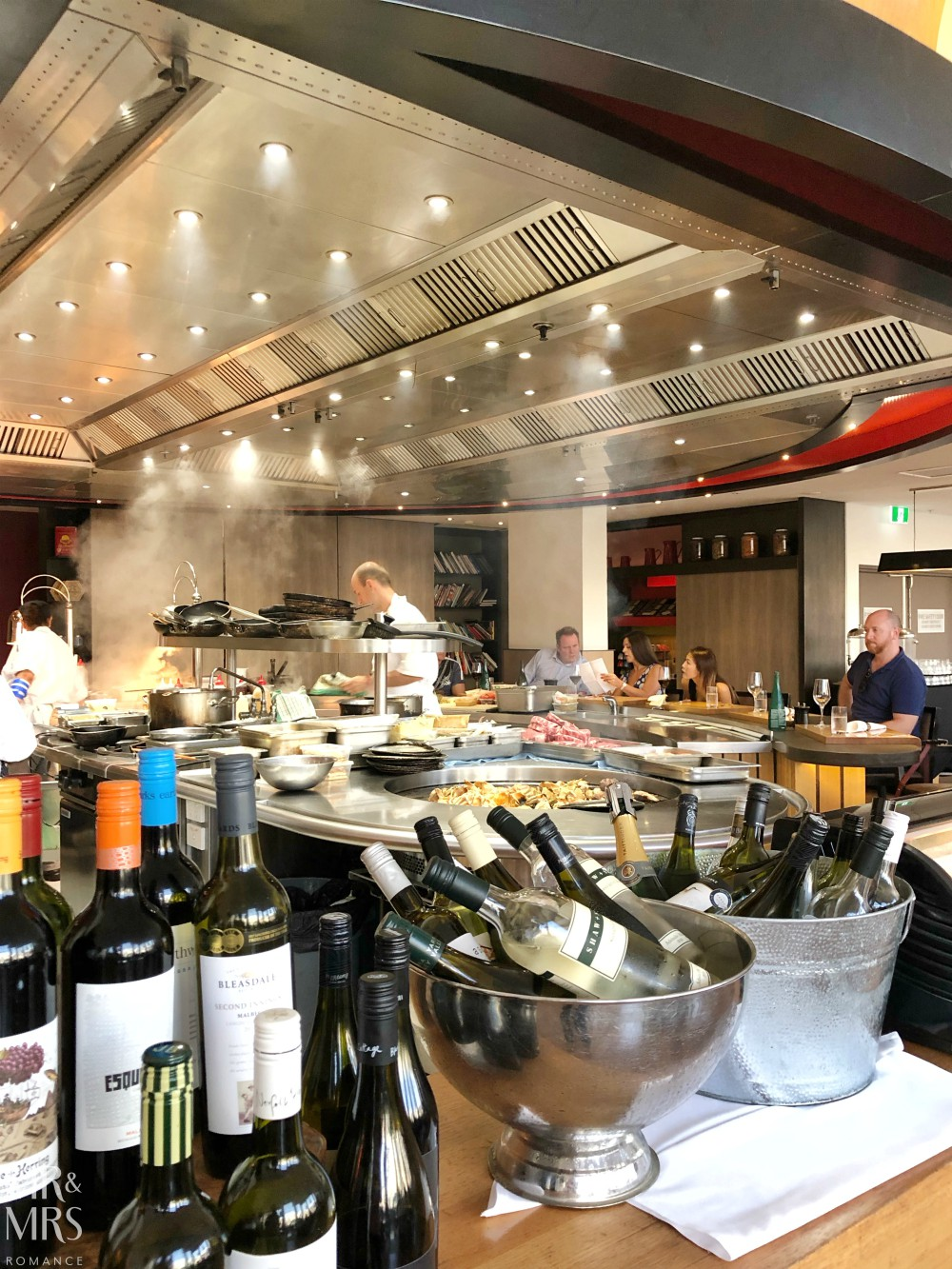 The Ternary Darling Harbour - grill kitchen and tables