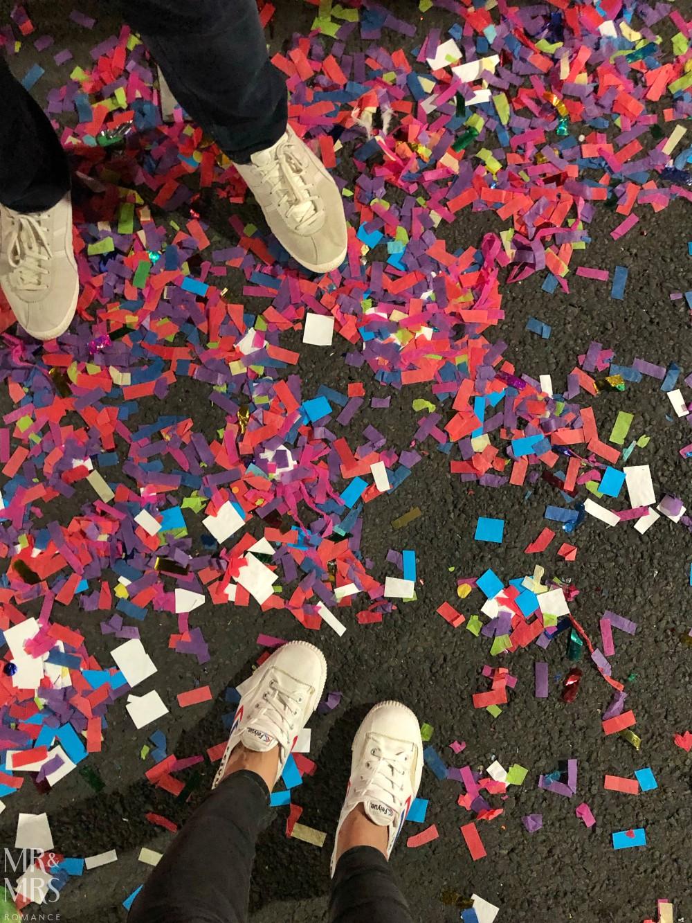 Confetti at Sydney Mardi Gras