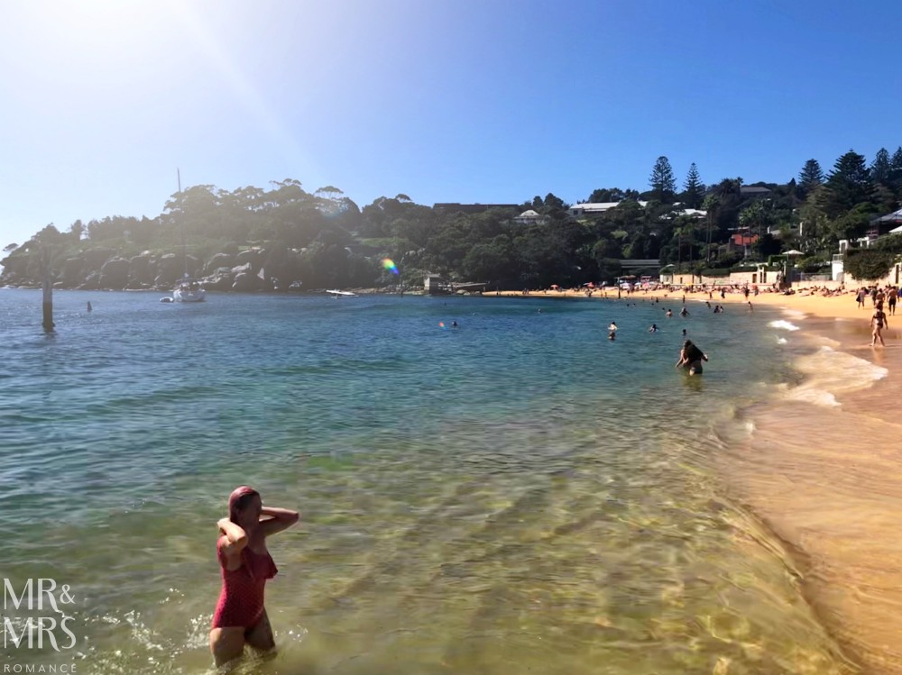 Christina at Camp Cove beach Watsons Bay