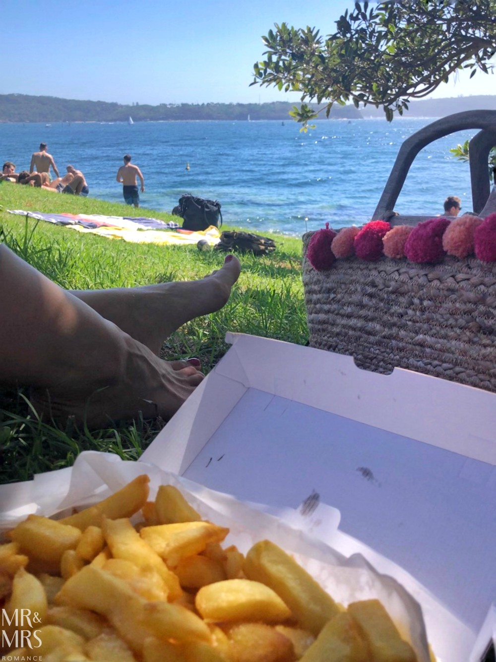 Doyle's chips at Watsons Bay - Green Point Reserve Camp Cove