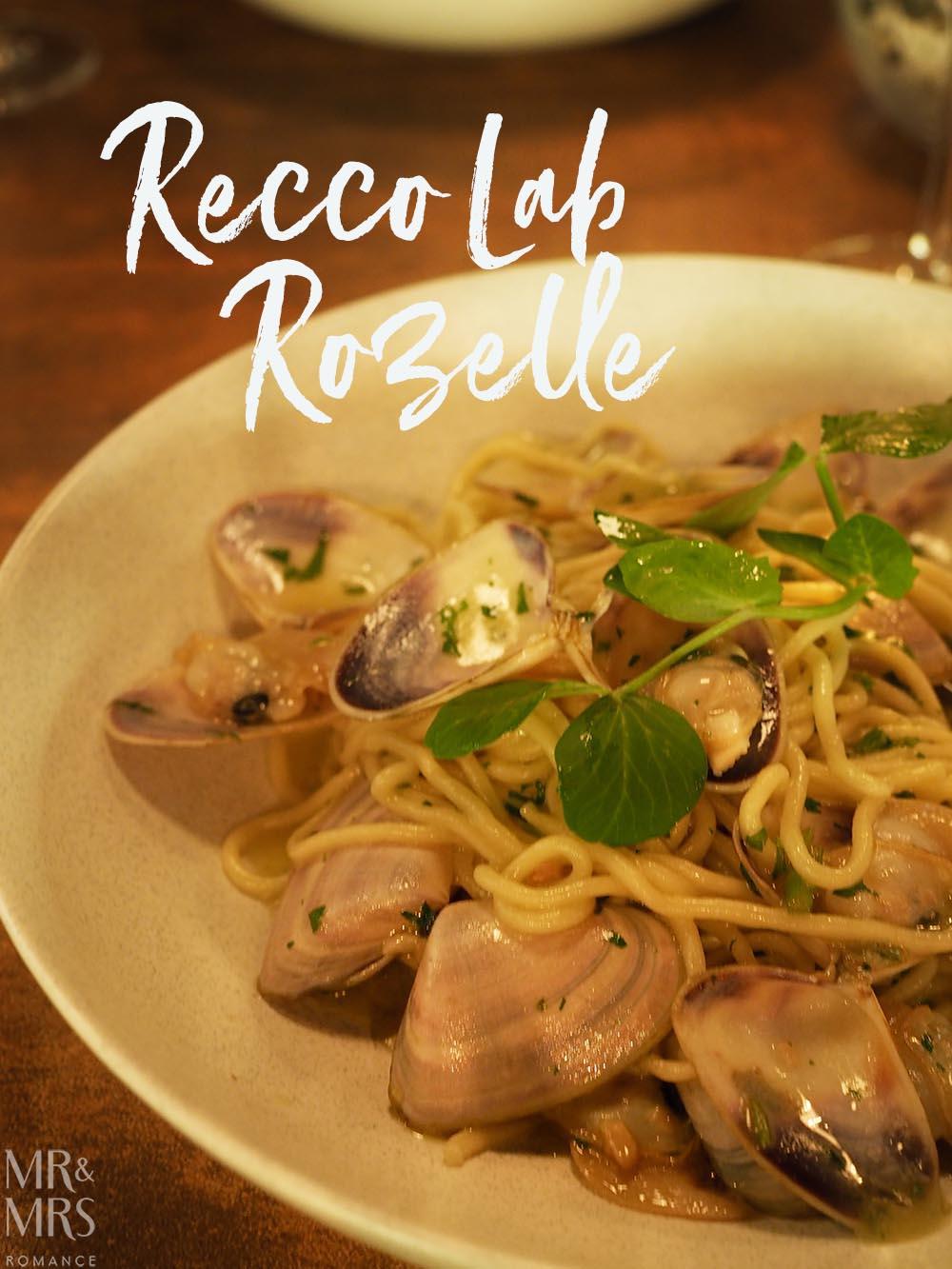 ReccoLab Rozelle - Sydney restaurant review