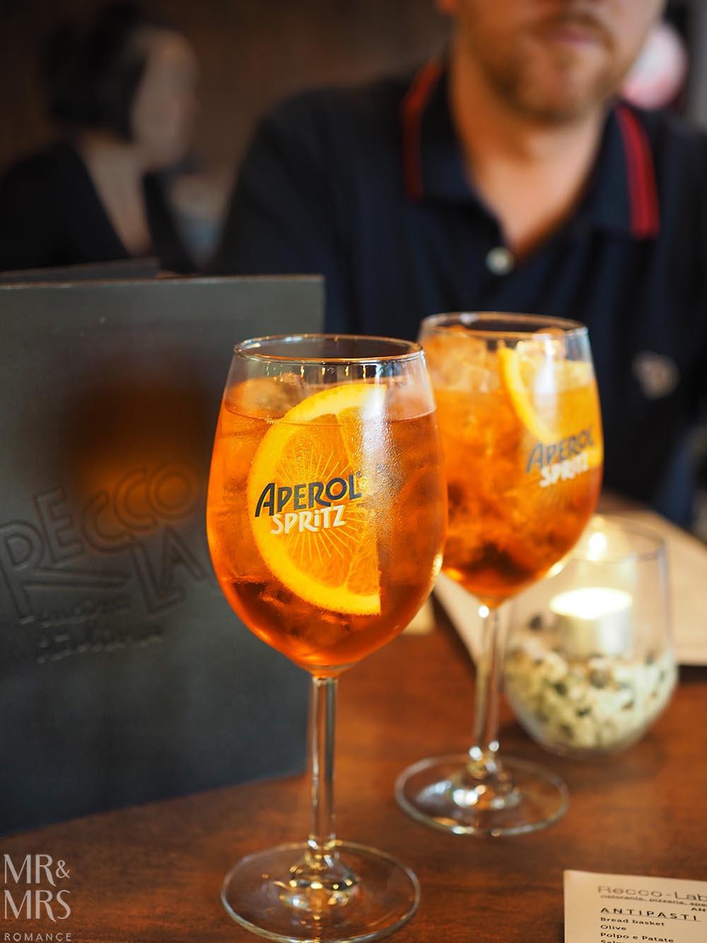 ReccoLab Rozelle - Sydney restaurant review - Aperol spritz