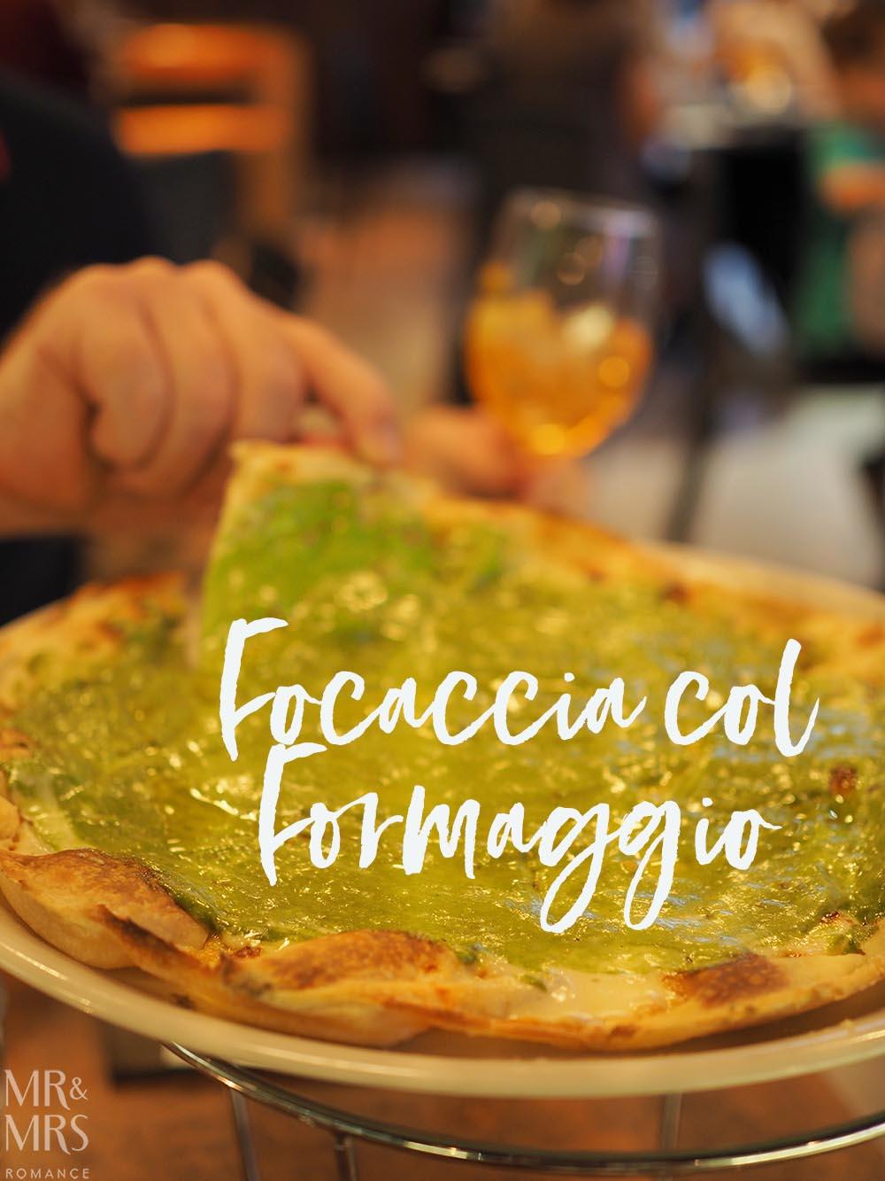 ReccoLab Rozelle - Sydney restaurant review - focaccia col formaggio