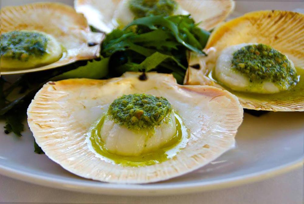 Rick Stein at Bannisters Mollymook, NSW - scallops entree