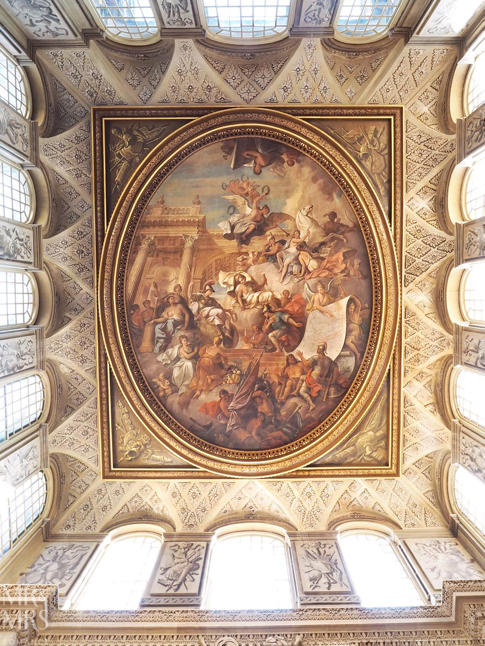 Frescoes at Blenheim Palace England