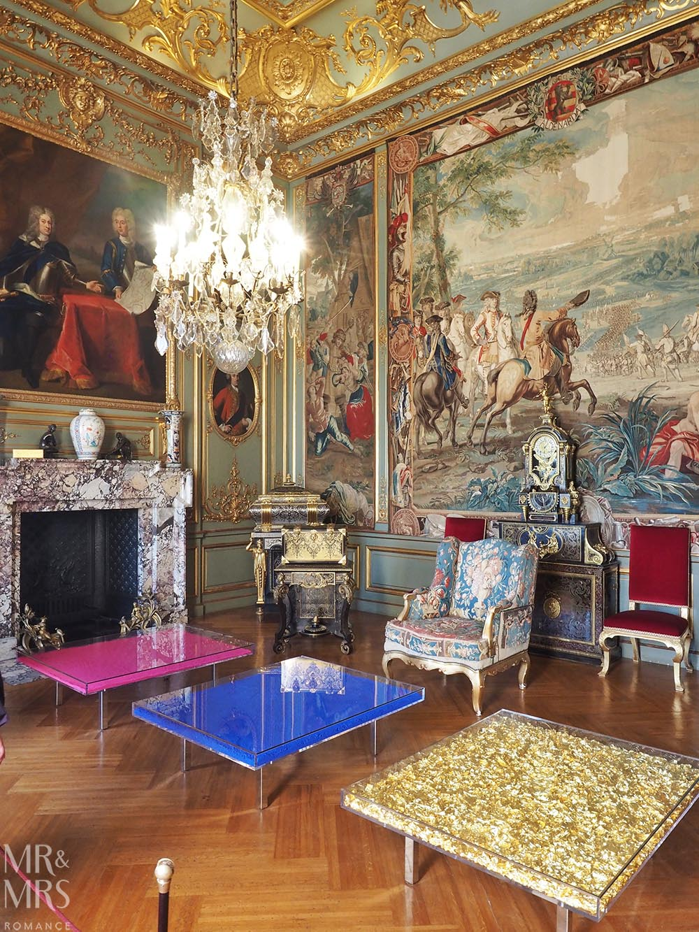 Reception rooms at Blenheim Palace England