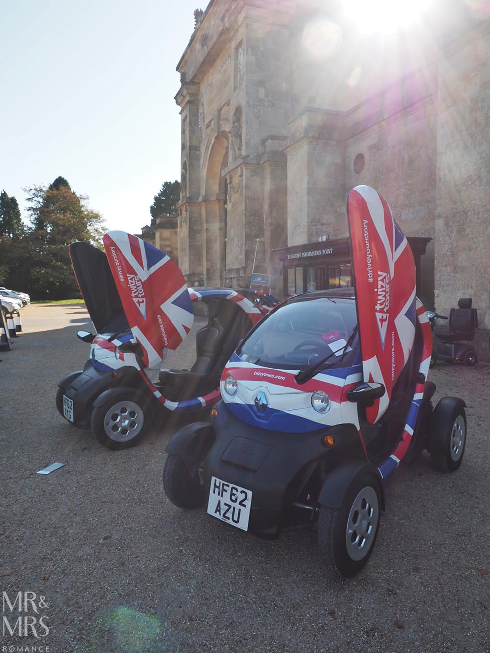 Electric vehicle tours at Blenheim Palace England