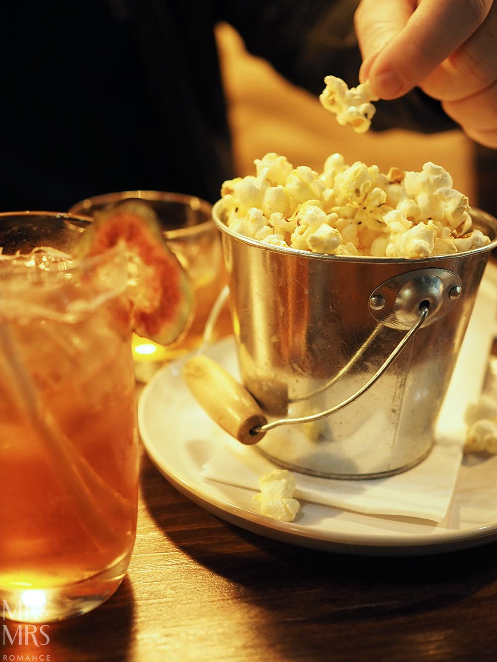 Jack & Knife, Darlinghurst - garlic and rosemary popcorn