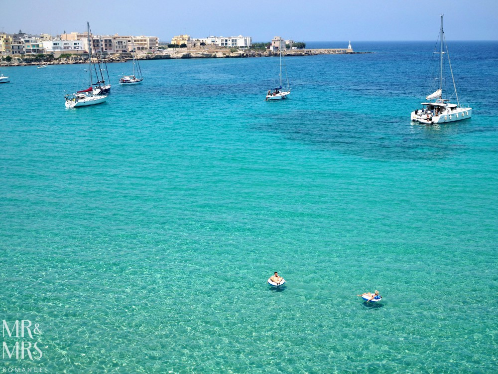 How to travel around Puglia - water at Otranto