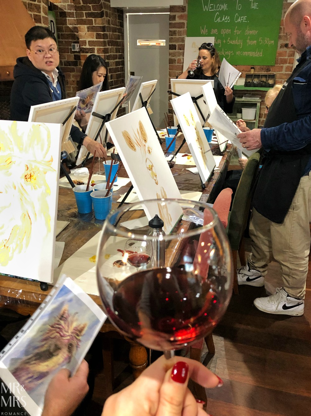 Glass Cafe Paint Pinot and Artemis Wines