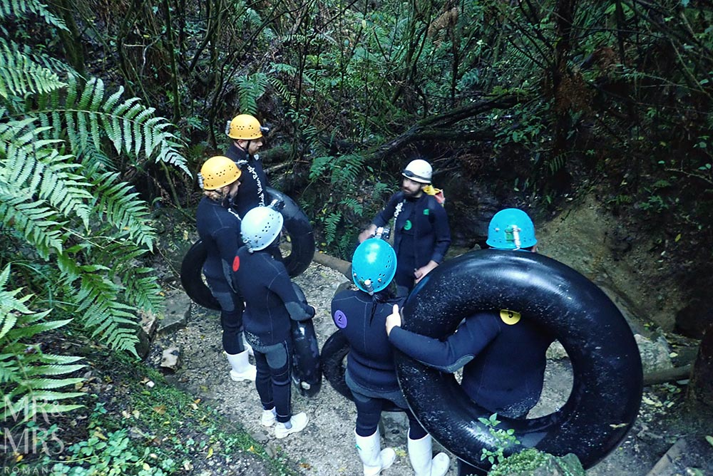 New Zealand Waitomo glowworm cave and Blackwater Rafting group