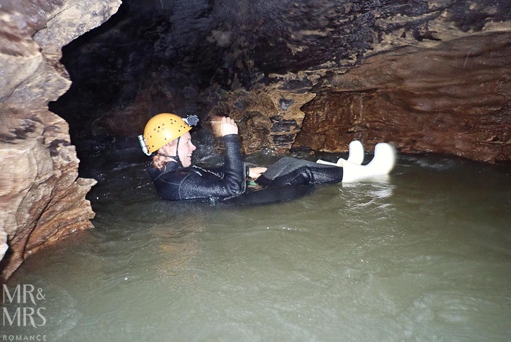 New Zealand Waitomo glowworm cave and Blackwater Rafting underground
