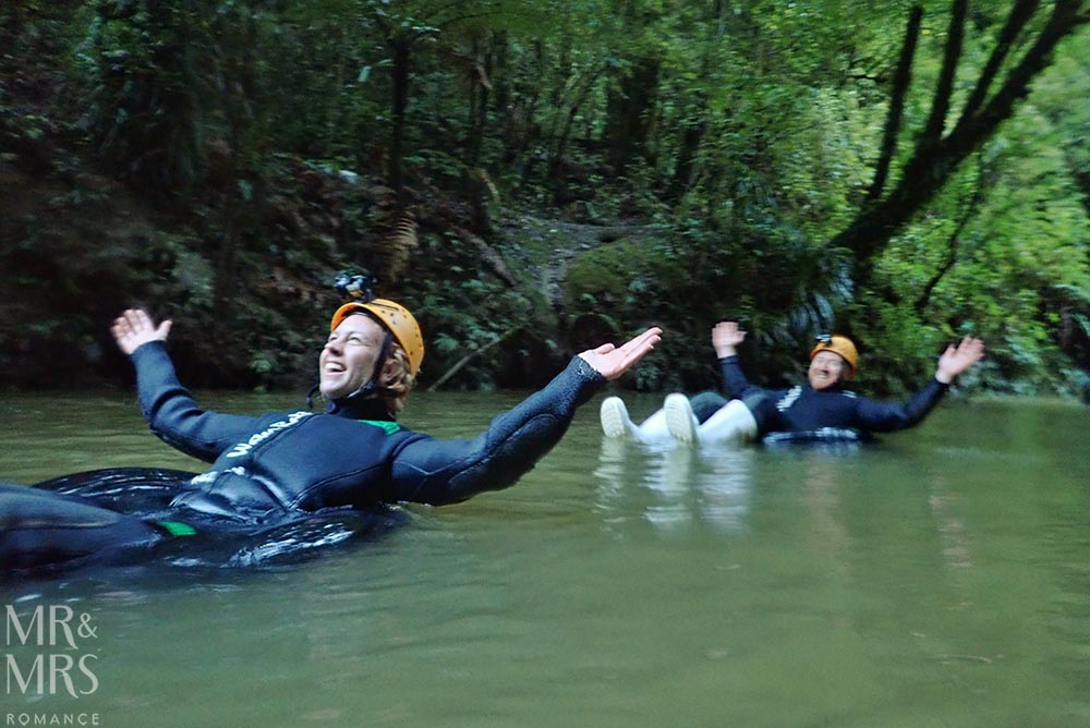 New Zealand Waitomo glowworm cave and Blackwater Rafting river cruise