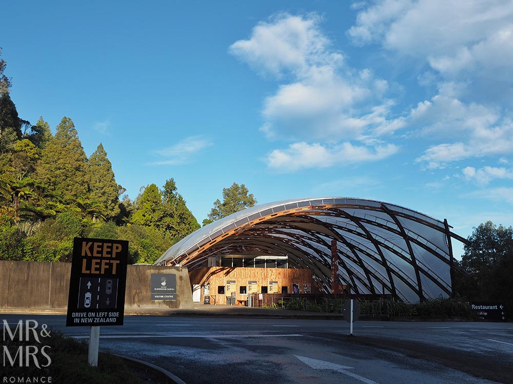 New Zealand Waitomo glowworm cave and Blackwater Rafting welcome centre