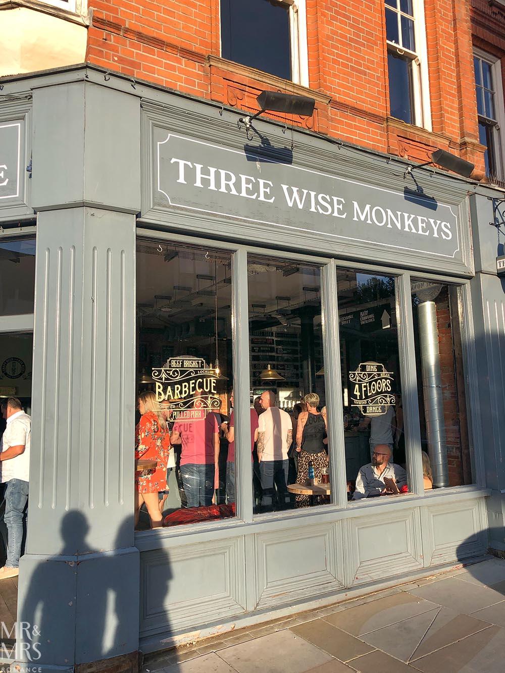 Three Wise Monkeys Pub, Colchester, Essex