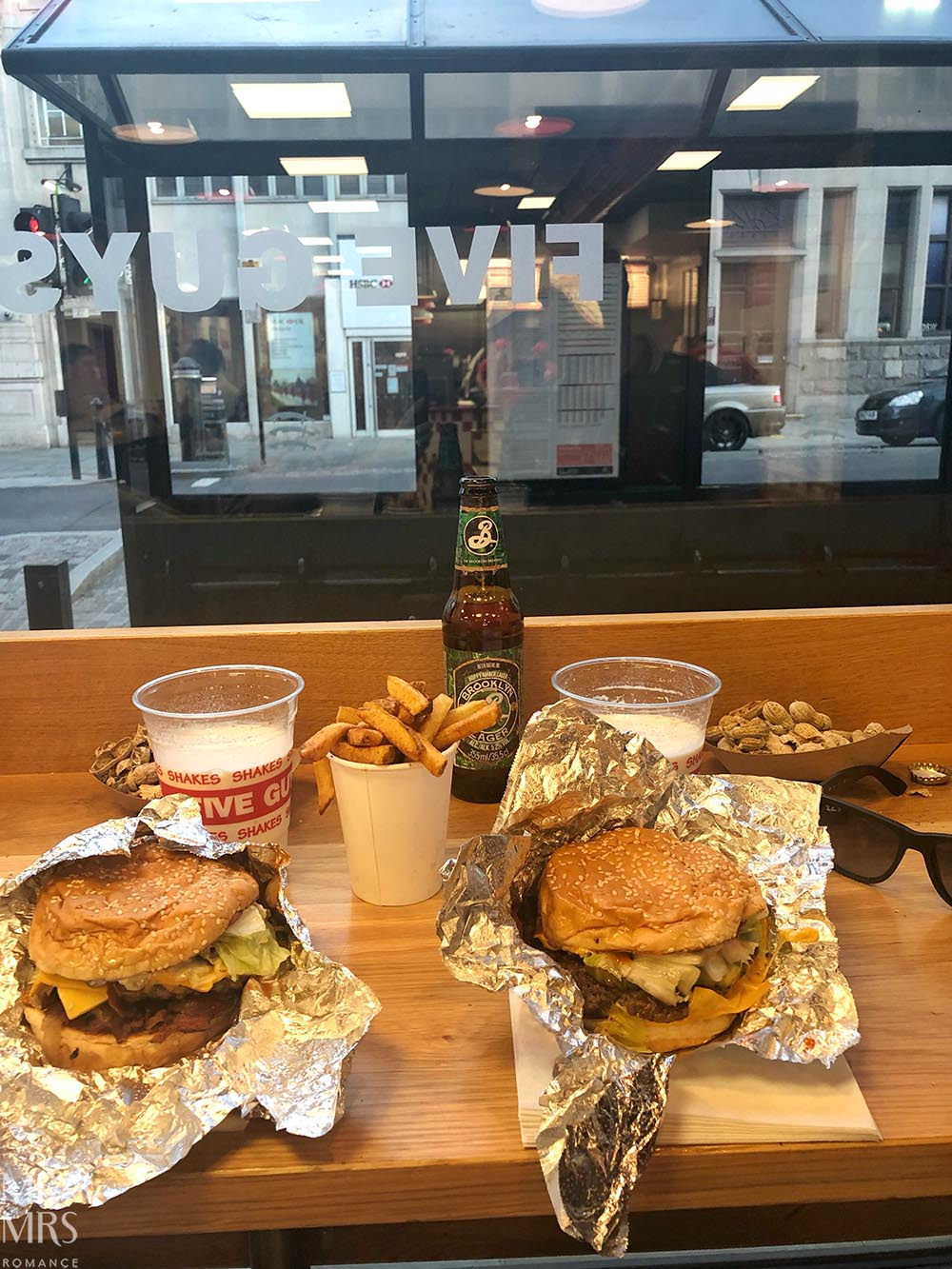 Five Guys burger joint, Colchester, Essex