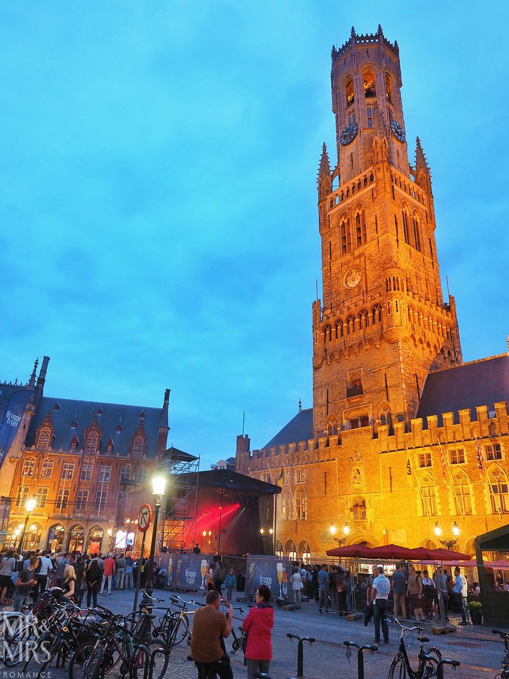 Bruges, Belgium - Markt Square concert