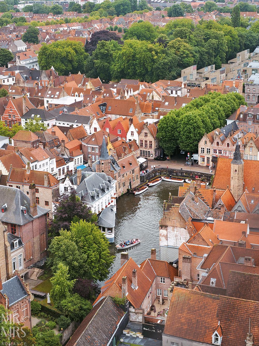 Bruges, Belgium - view from Belfry of Bruges