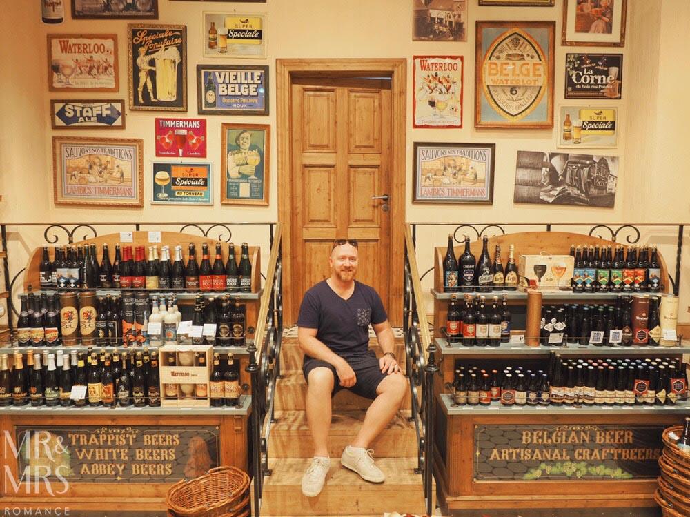 Bruges, Belgium - beer shop