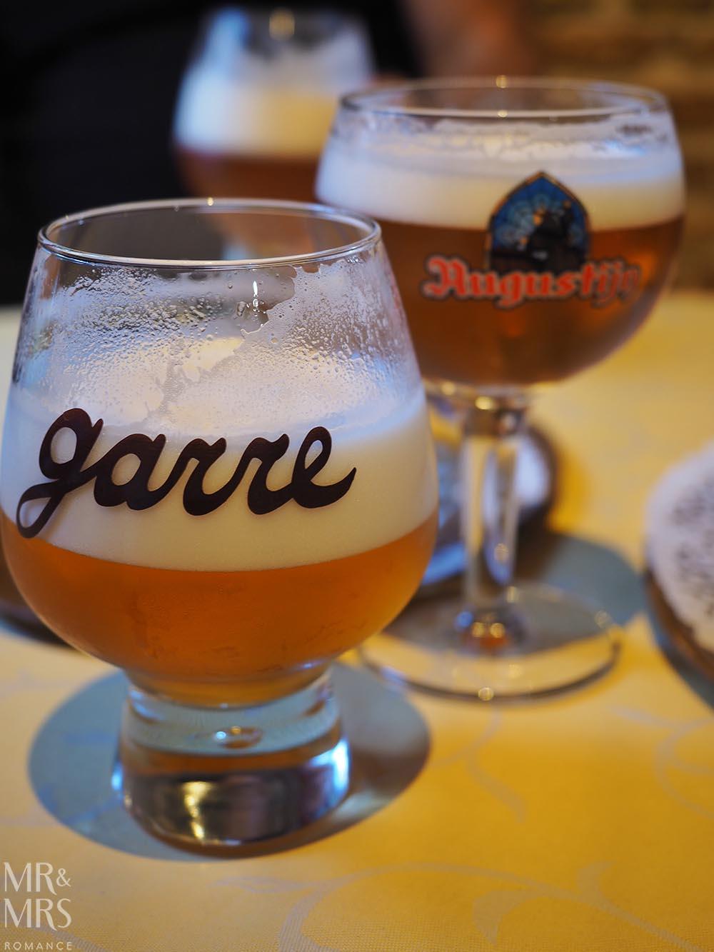 Bruges, Belgium - Garre bar Trappist beer
