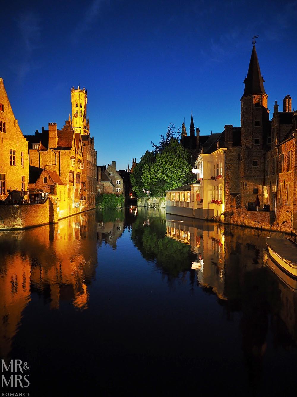 Bruges, Belgium - Belgian sky at 2300