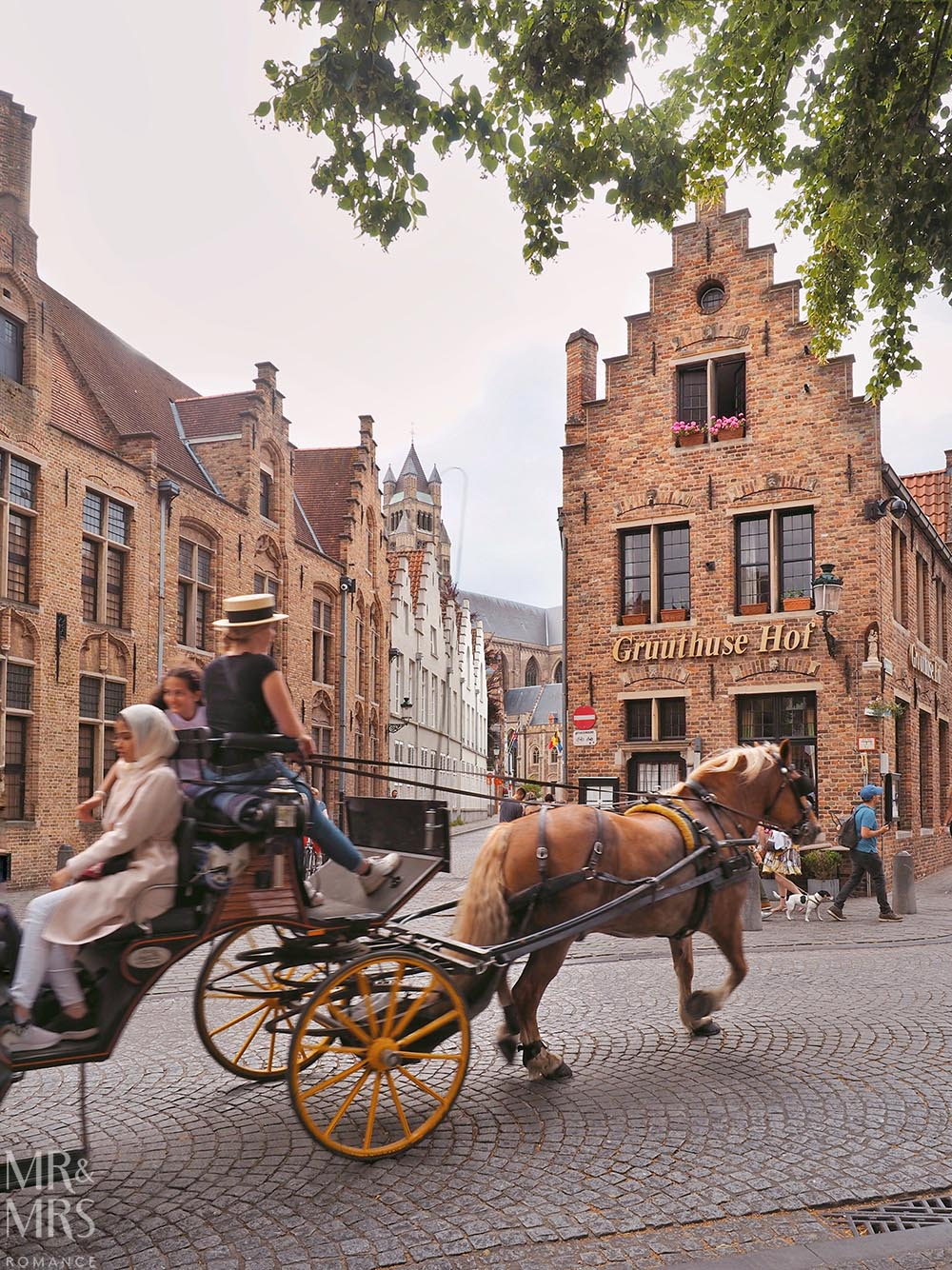 Bruges, Belgium - horse-drawn cart