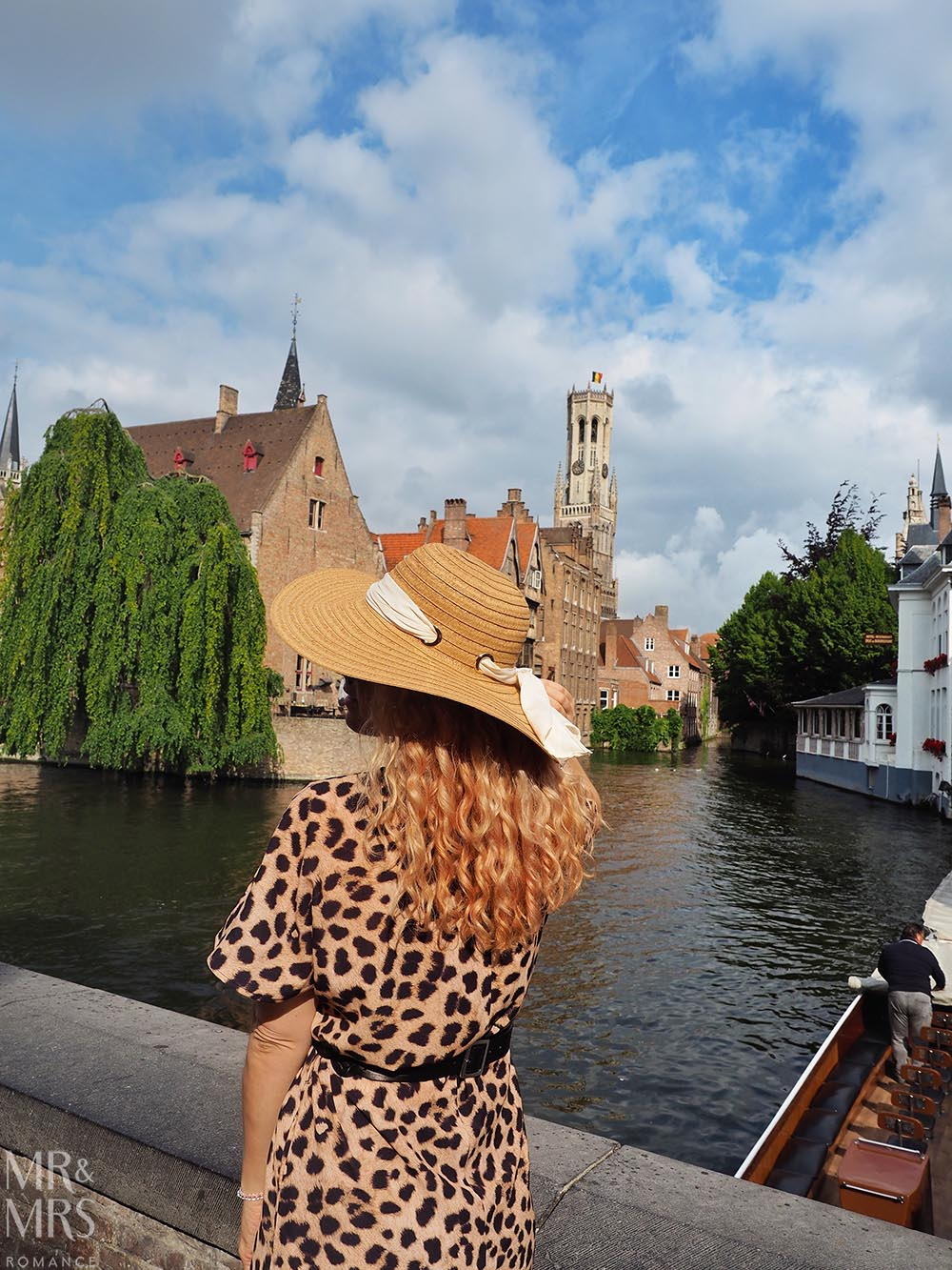 Bruges, Belgium - Christina and canal
