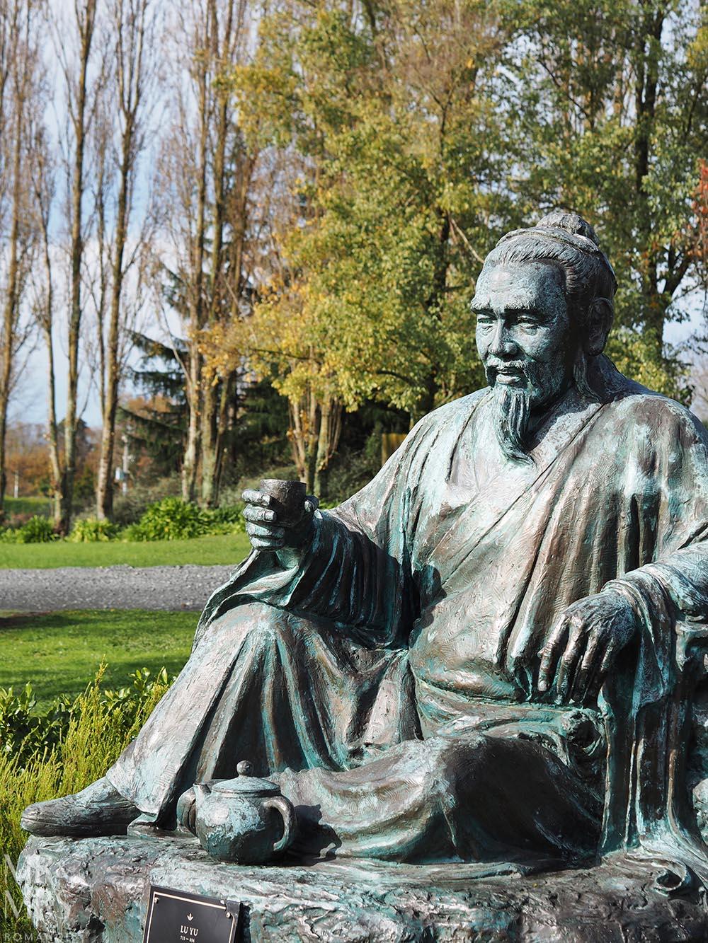 Zealong Tea Estate, Hamilton, Waikato, New Zealand - statue