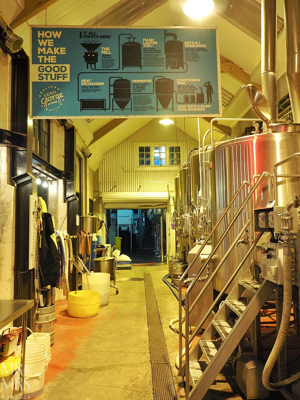 Good George Brewing, Hamilton, New Zealand - the brewery