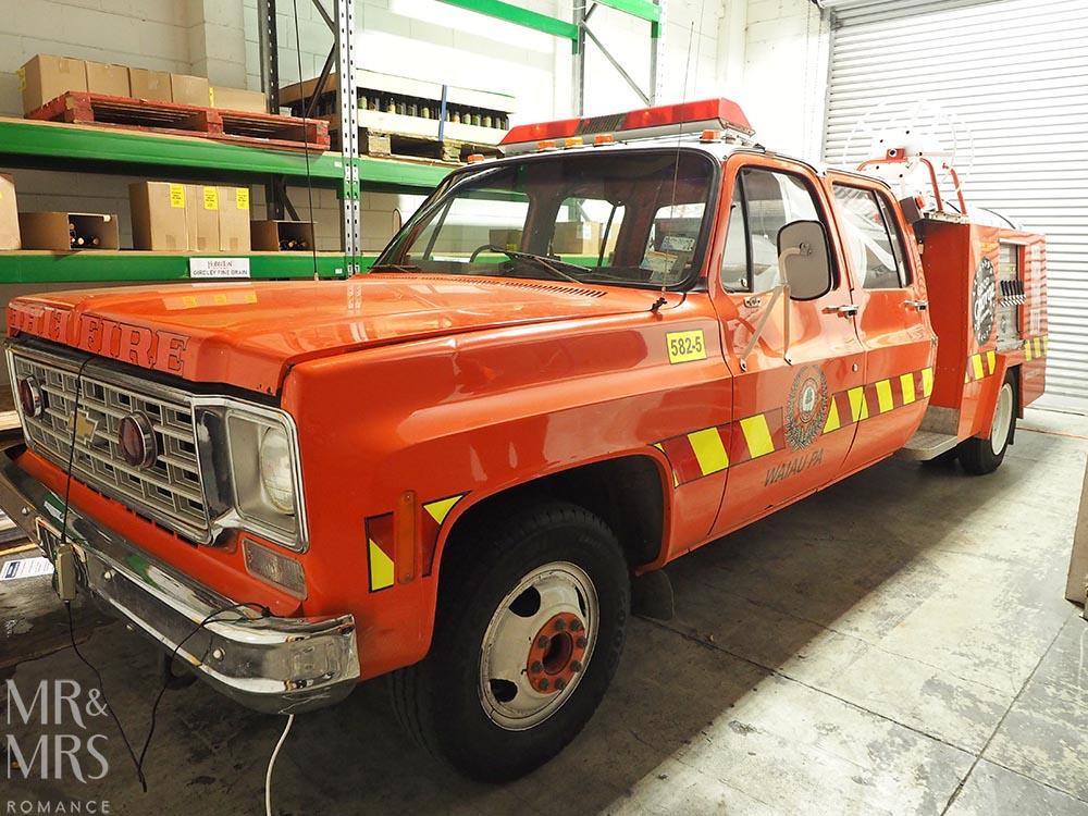 Good George Brewing, Hamilton, New Zealand - fire truck beer van