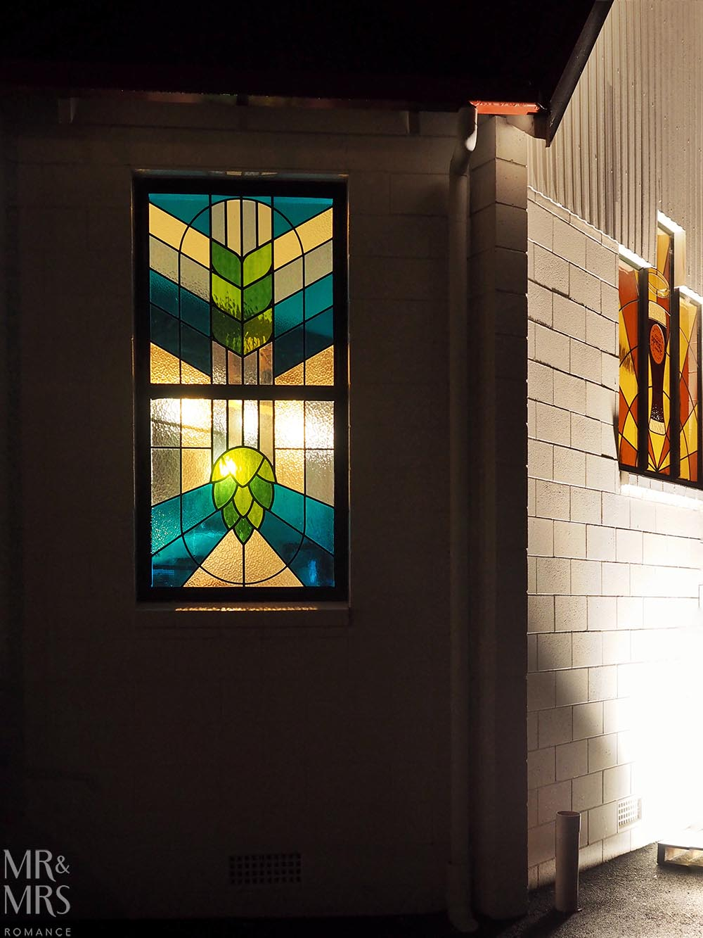 Good George Brewing, Hamilton, New Zealand - stained glass window