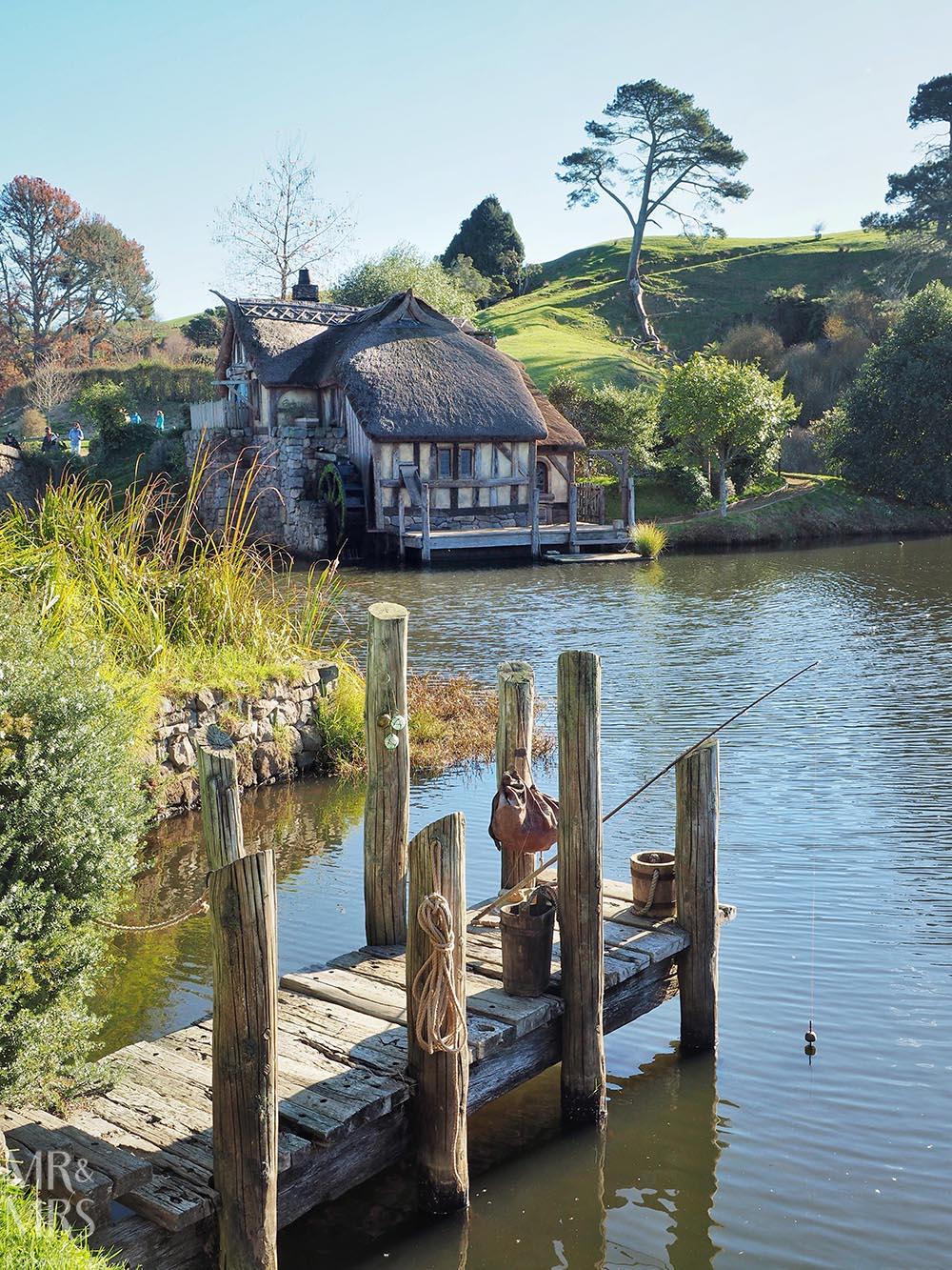 Hobbiton Movie Set, Waikato, New Zealand - fishing