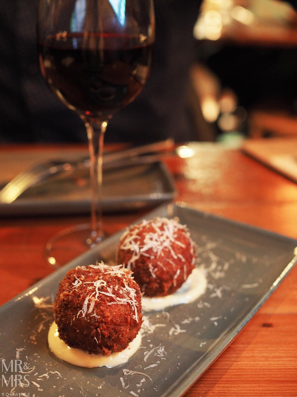 Where to eat in Maitland, NSW - The Rigby - arancini