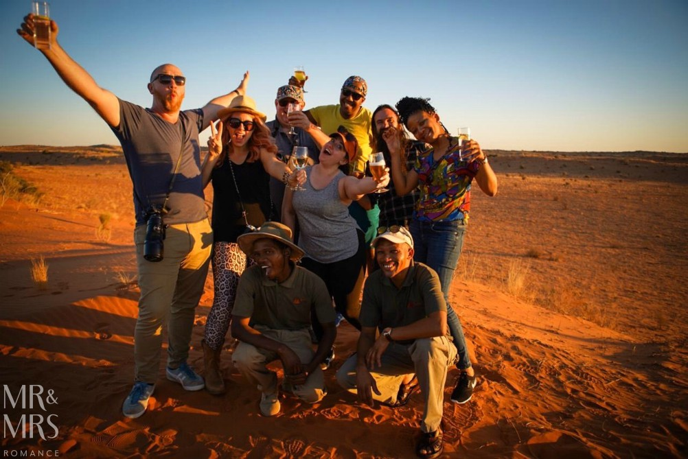 South Africa Tourism - sundowners in the desert