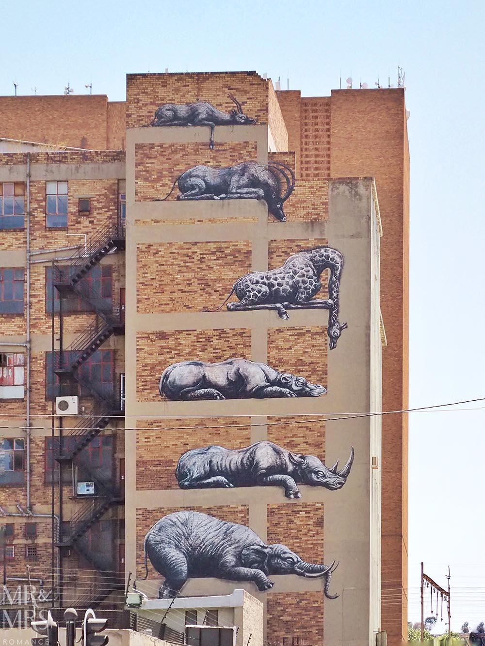 South Africa Tourism - Maboneng street art Johannesburg