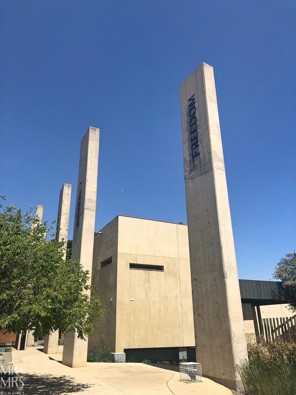 South Africa Tourism - Apartheid Museum pillars of constitution