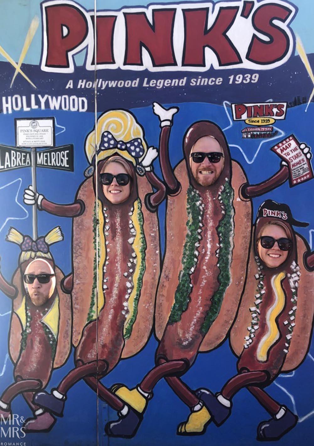 Pink's hotdogs, LA