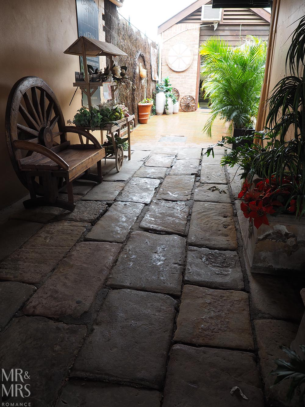 Original flagstones, Morpeth, NSW