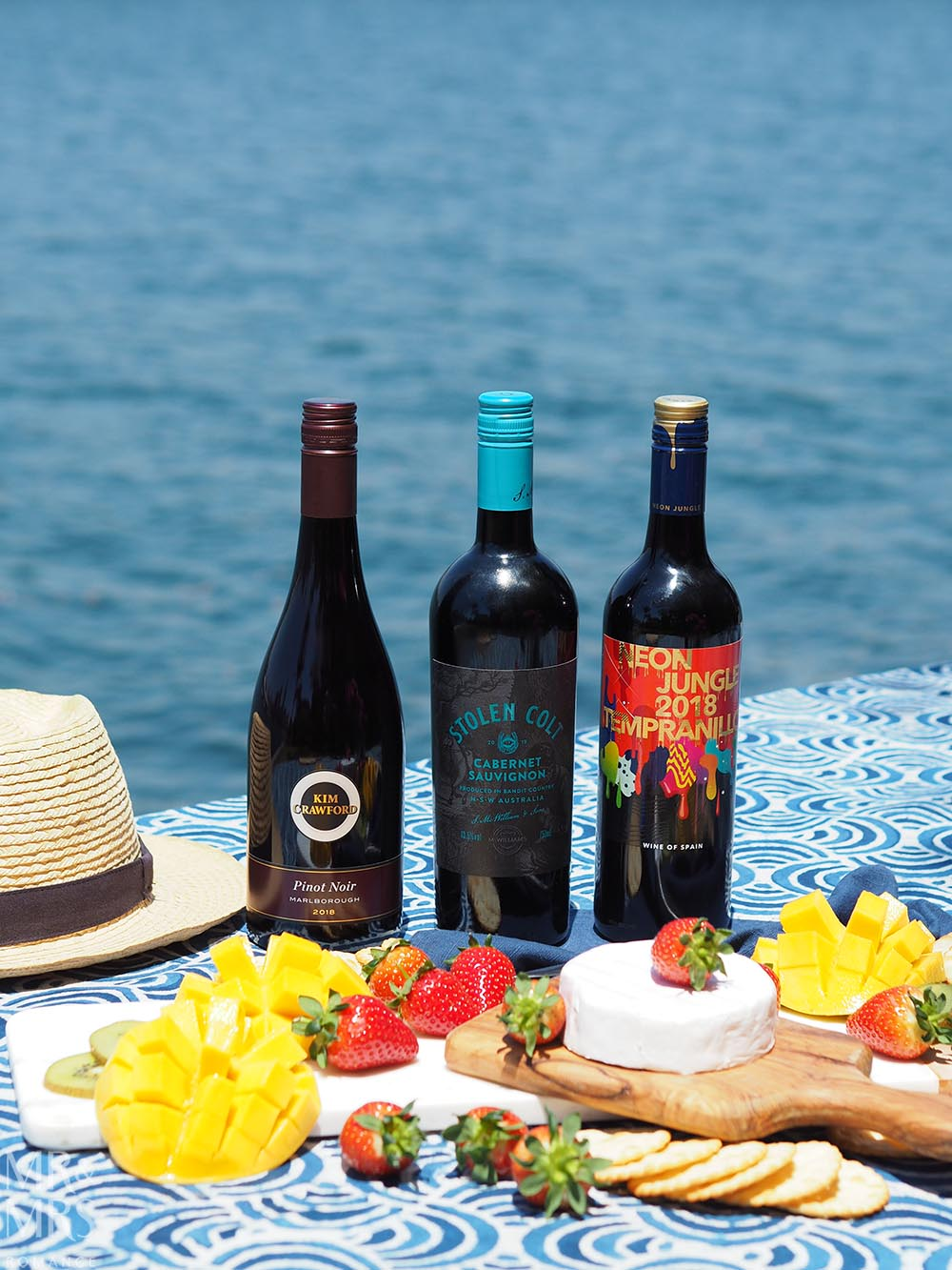 Summer party wines - Kim Crawford Pinot Noir Stolen Colt Cabernet Sauvignon Neon Jungle Tempranillo