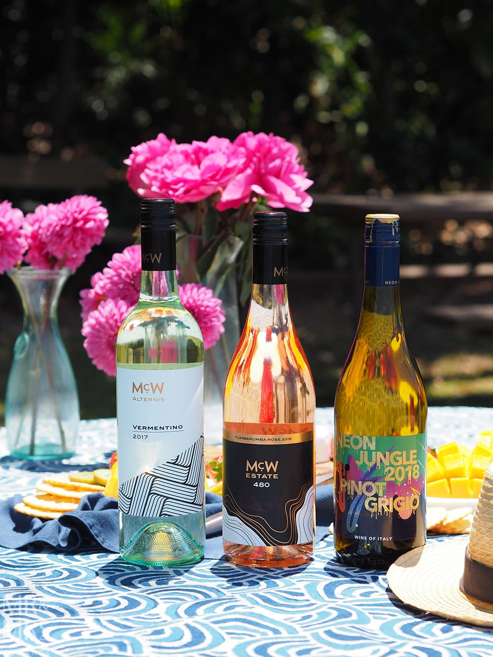 Summer party wines - Neon Jungle Pinot Grigio McW 480 Tumbarumba rose McW Alternis Vermentino